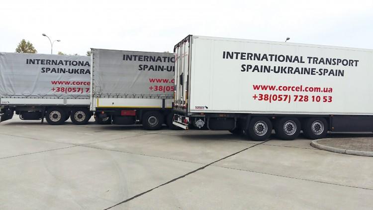 Transporte internacional de granos de semillas desde Alemania a Ucrania